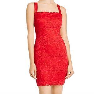 Guess red lace mini dress Renny NWT